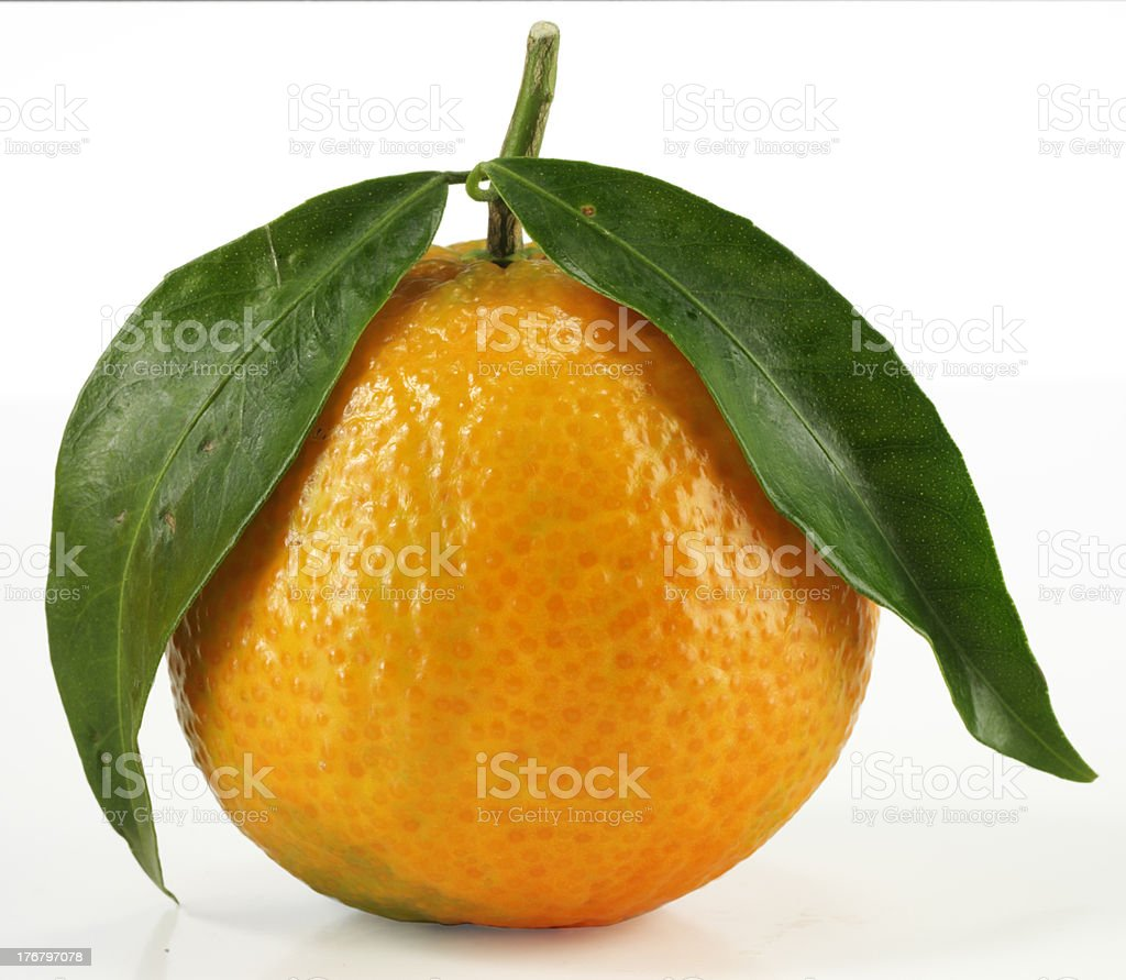 Clementine with clipping path royalty-free stock photo
