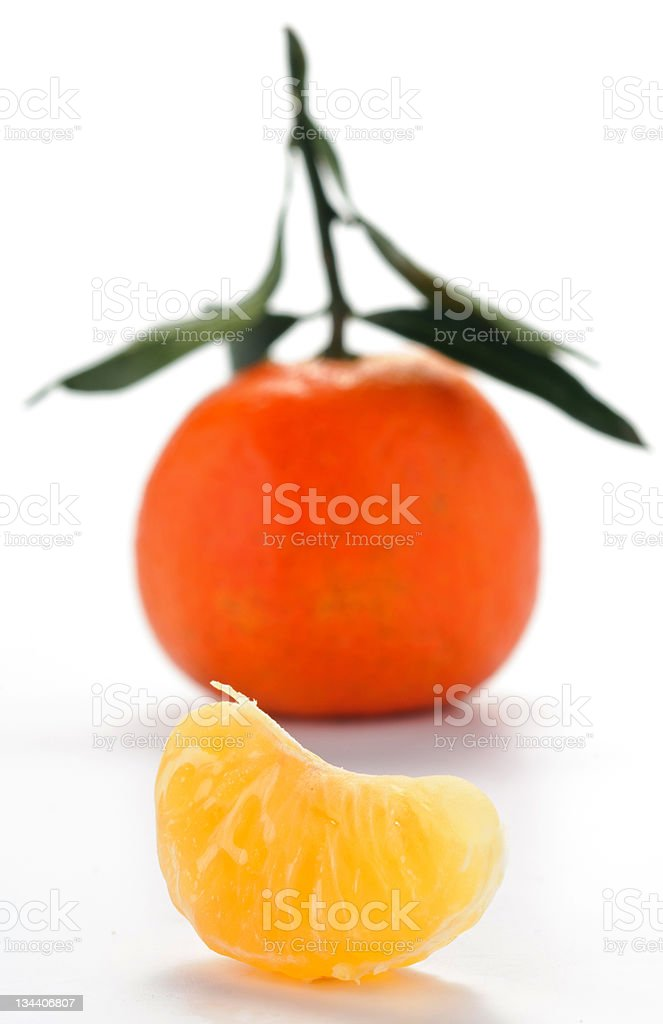 Clementine with slice stock photo