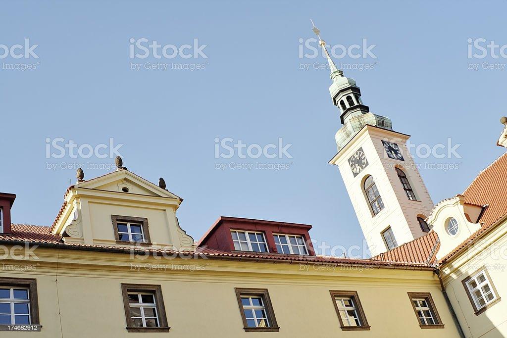 Clementinum in Prague stock photo