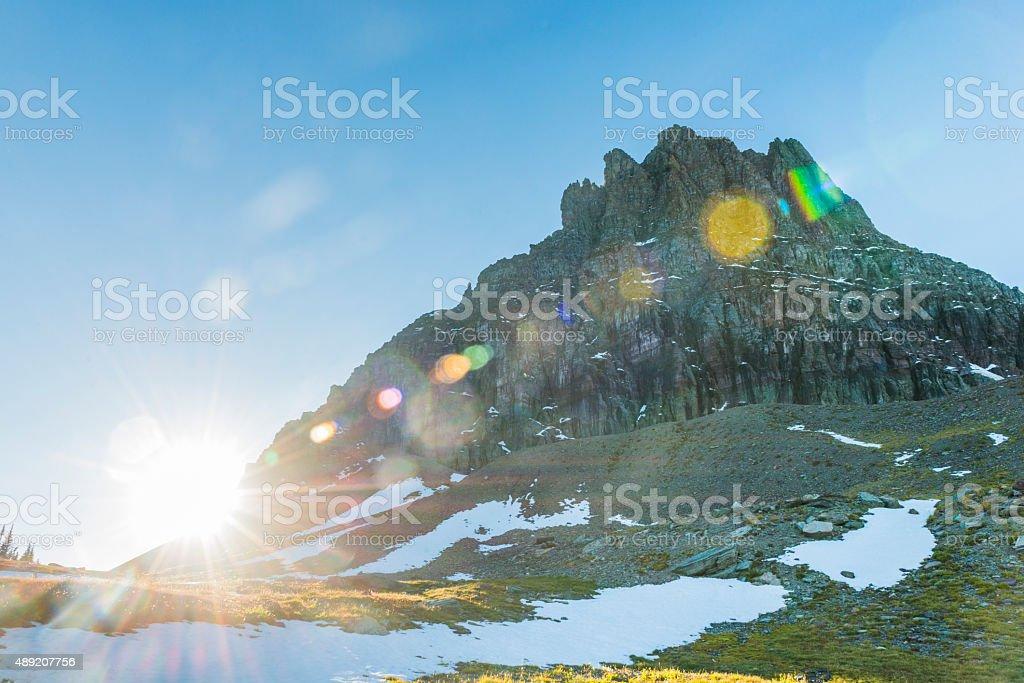 Clements Mountain Glacier National Park Montana Nature Travel Destination stock photo