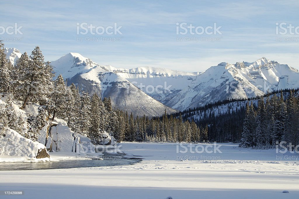 CLements Mtn and Cascade royalty-free stock photo