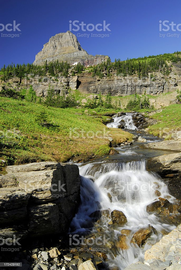 Clements Mtn and Stream royalty-free stock photo