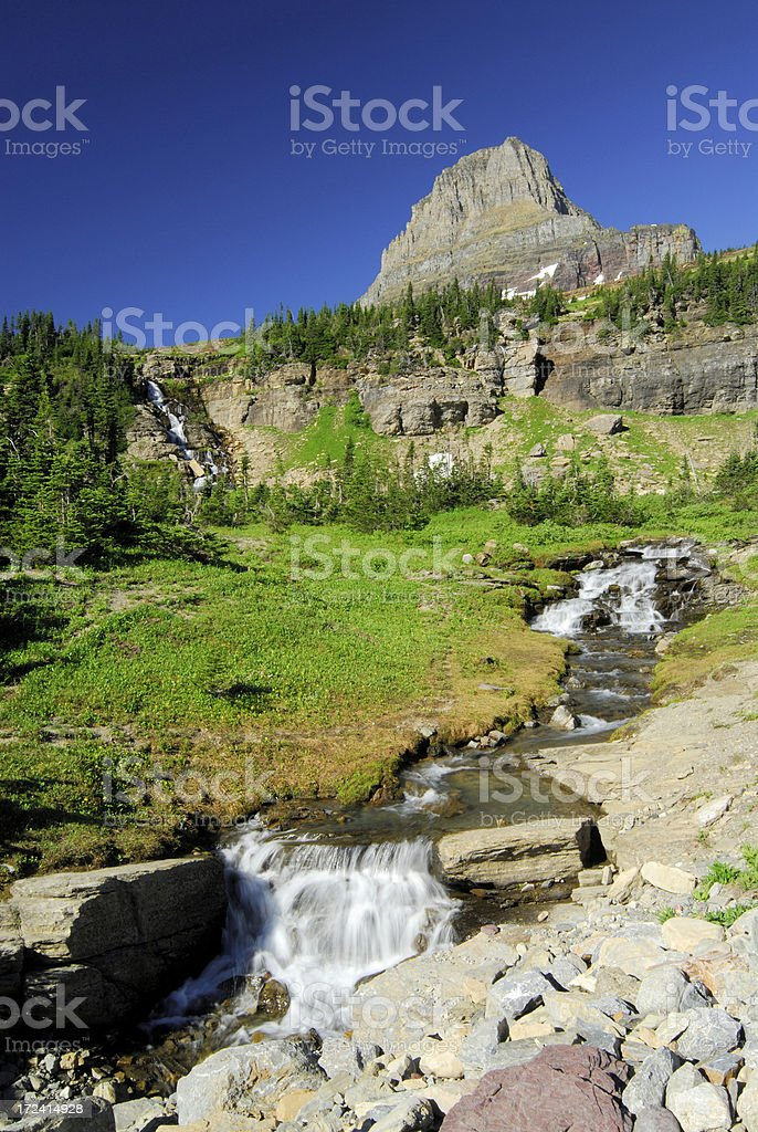 Clements Mtn and Waterfalls royalty-free stock photo