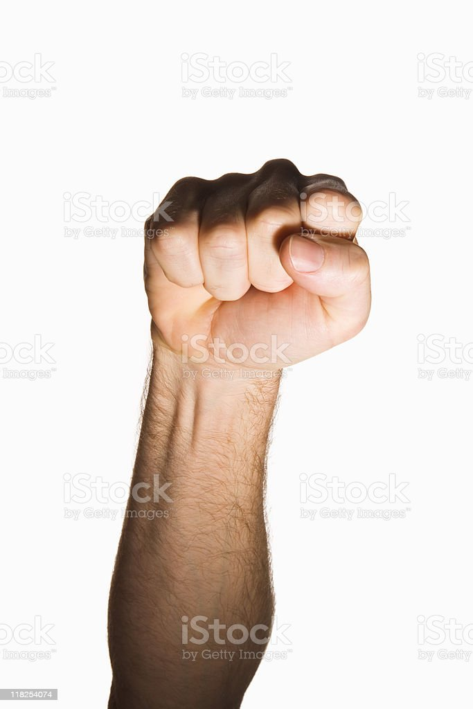 Clenched fist royalty-free stock photo