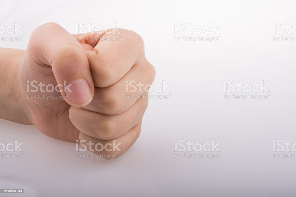 Clenched fist stock photo