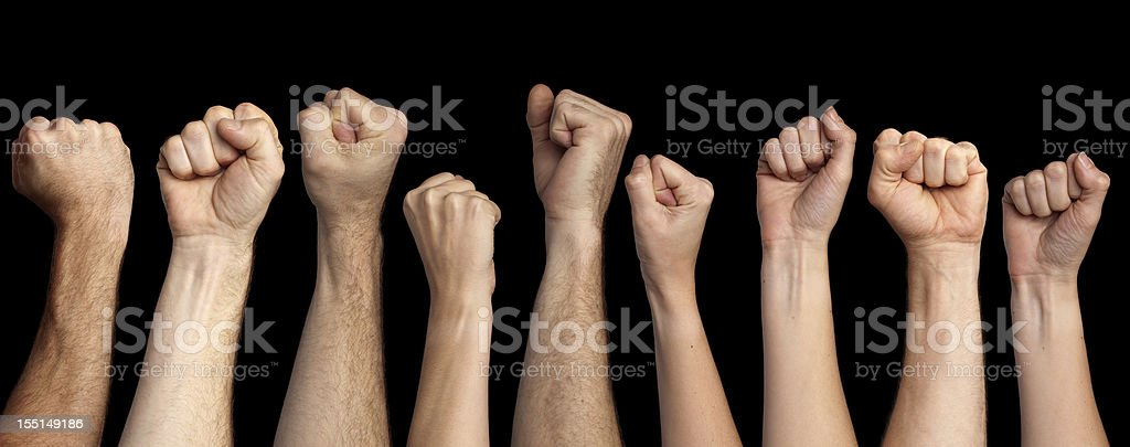 clenched fists royalty-free stock photo