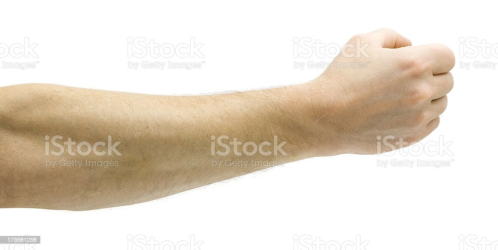 Clenching Small Item stock photo