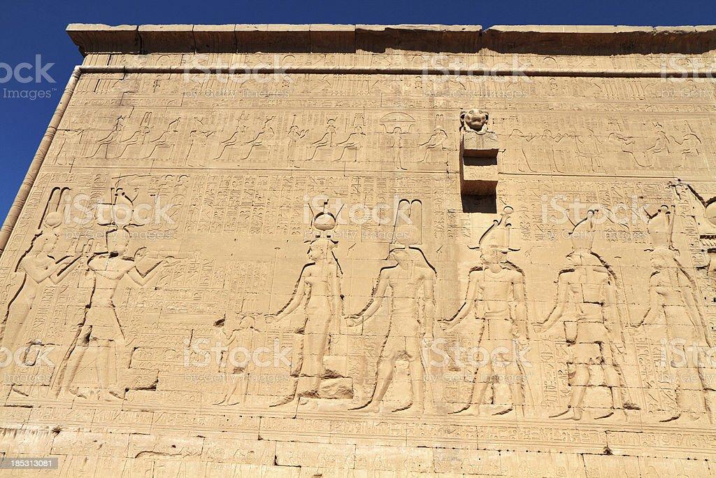 Cleopatra and Caesarean, Temple of Hathor, Dendera, Egypt royalty-free stock photo