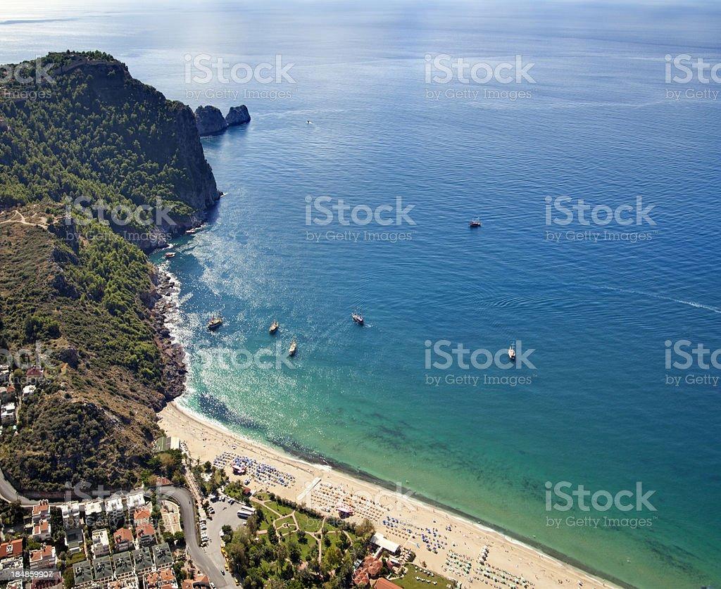Cleopatra Beach, Alanya / Turkey stock photo