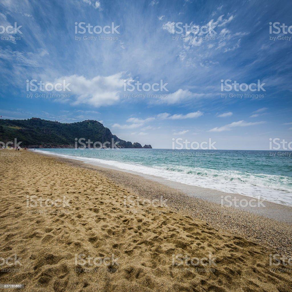 Cleopatra beach Alanya Turkey stock photo
