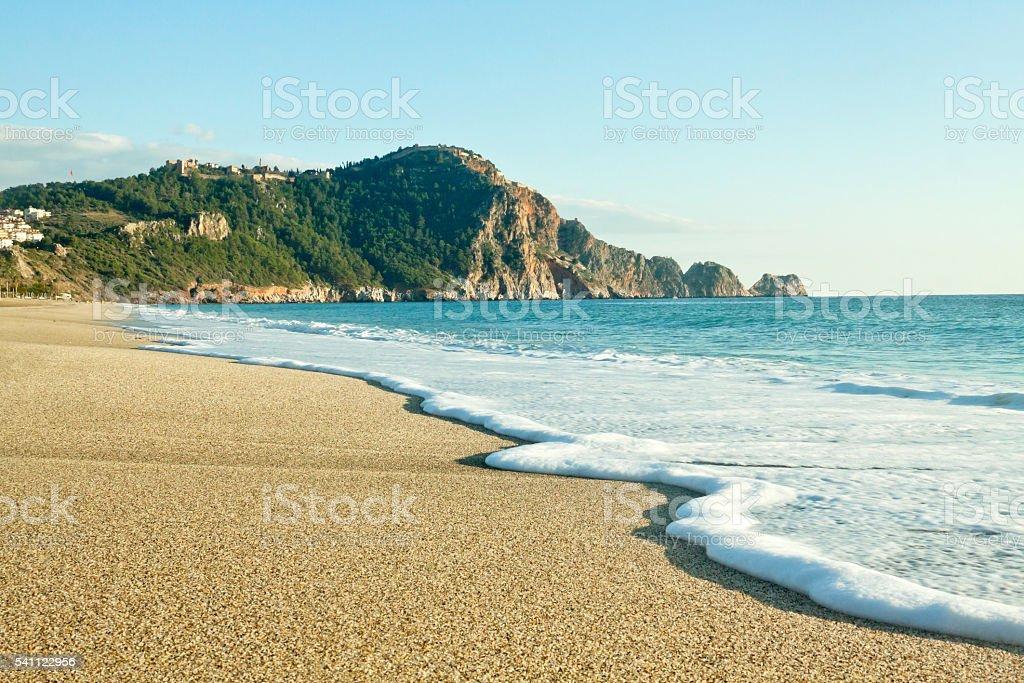 Cleopatra Beach (Kleopatra Beach) in Alanya, Turkey stock photo