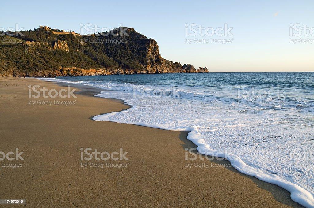 Cleopatra beach stock photo