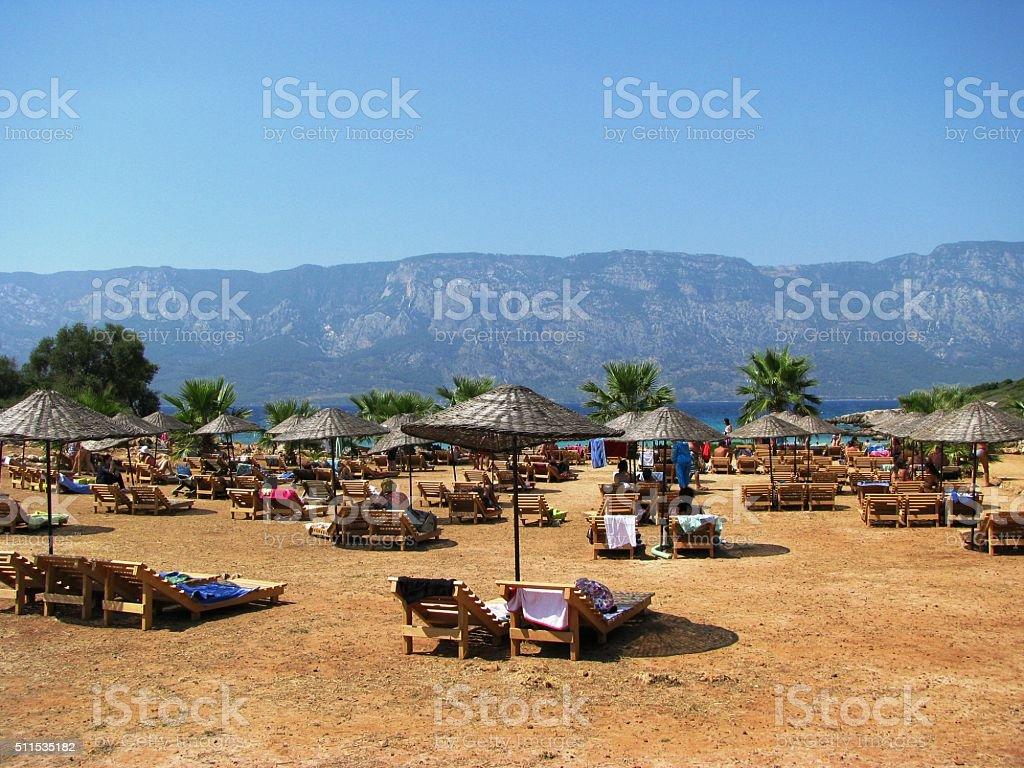 Cleopatra Beach, Sedir island Marmaris - Turkey stock photo