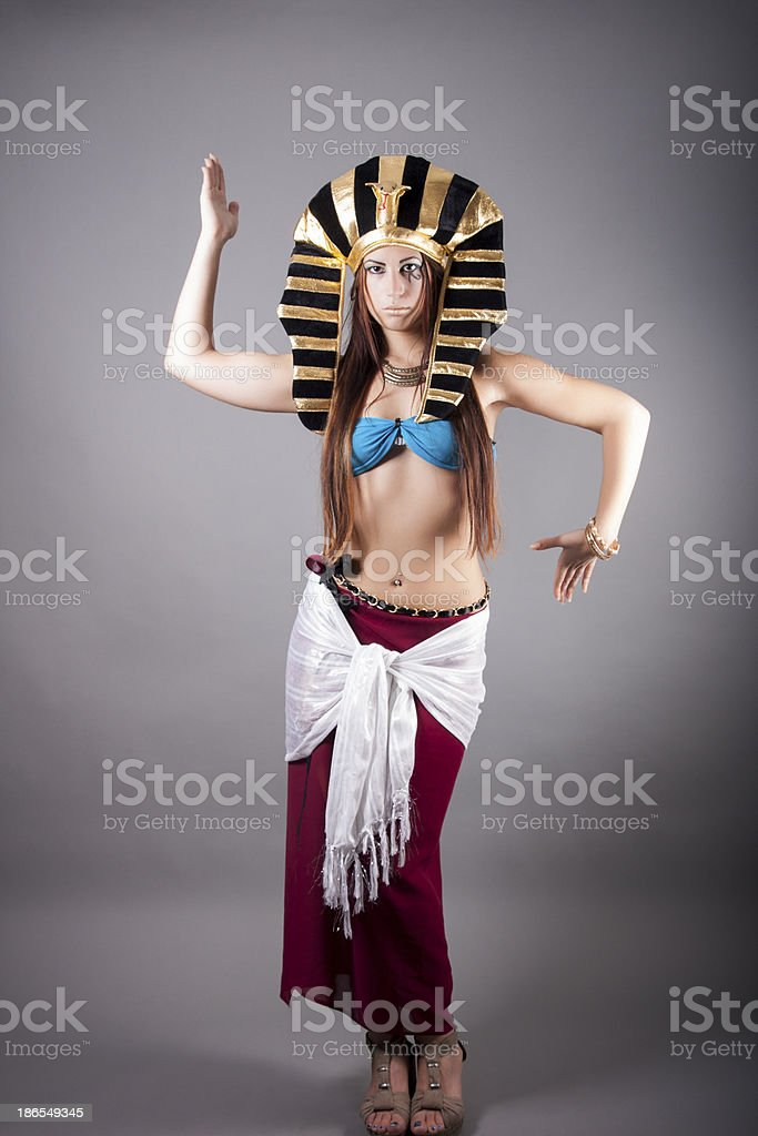 cleopatra. dance like a egyptian stock photo
