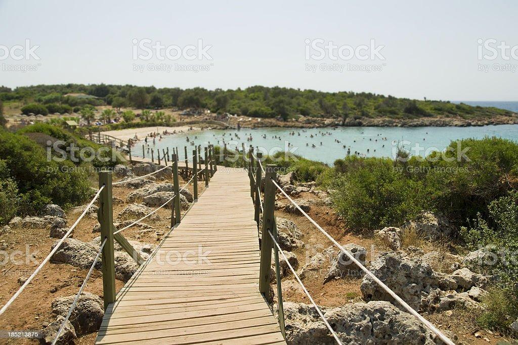 Cleopatra Island in Turkey stock photo