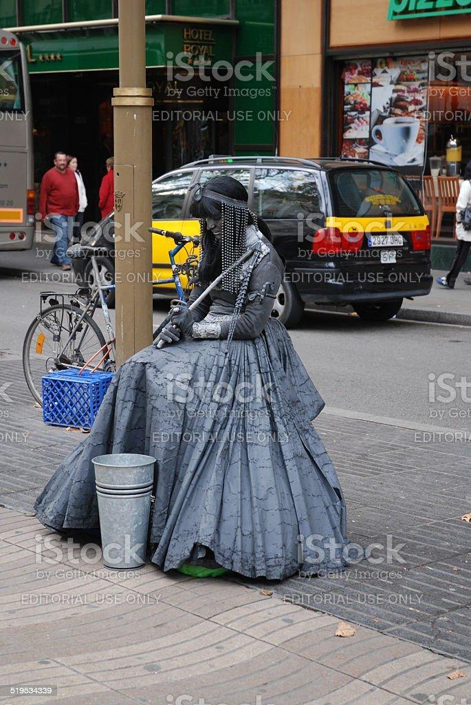 Cleopatra Living Statue royalty-free stock photo