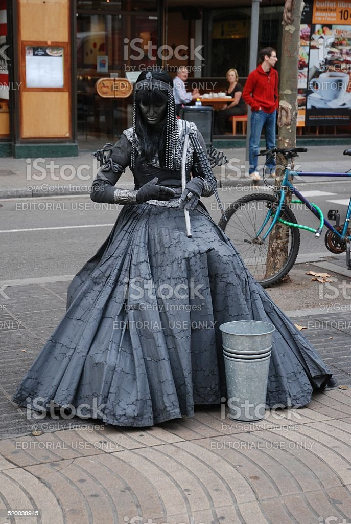 Cleopatra Living Statue royalty-free stock photo