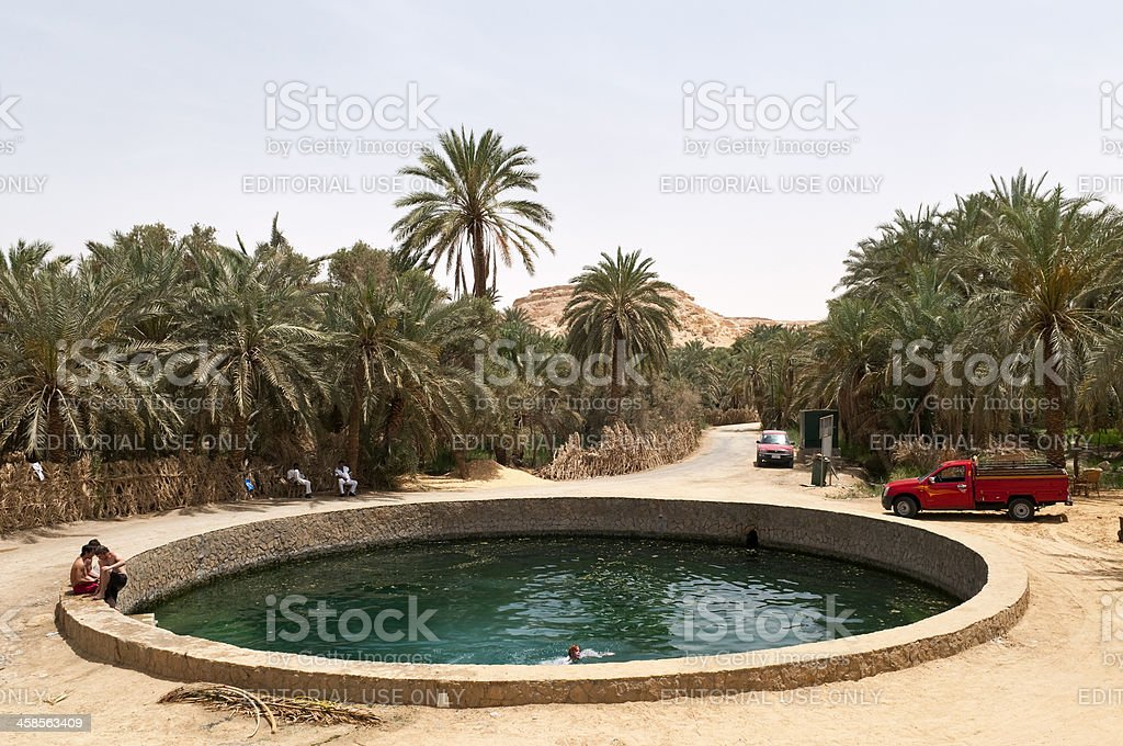 Cleopatra's Bath in Siwa Oasis stock photo