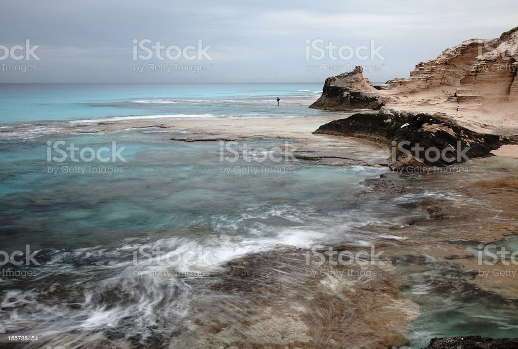 Cleopatra's beach lagoon near  Marsa Matruh, egypt stock photo