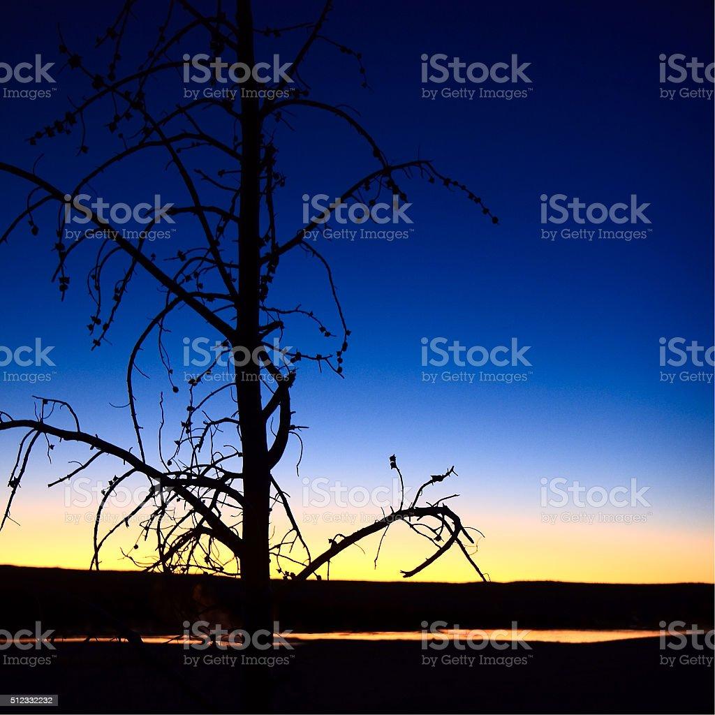 Clepsydra Sunset royalty-free stock photo