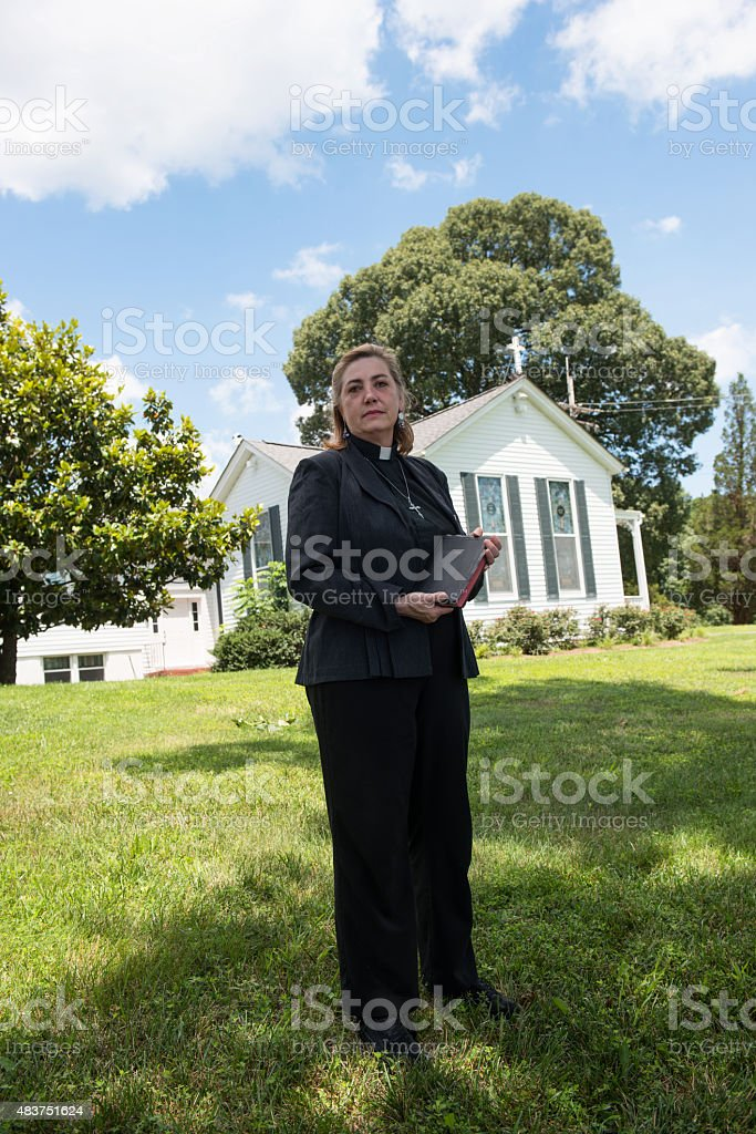 Clergy Woman stock photo