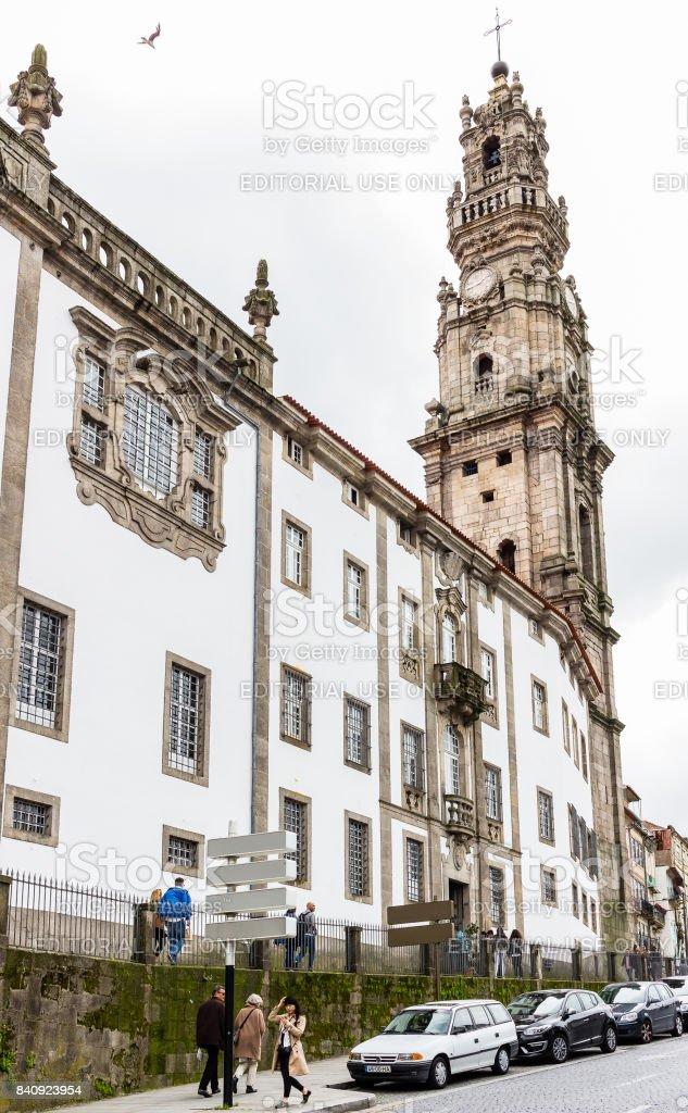 Clerigos church baroque tower in Porto, Portugal stock photo