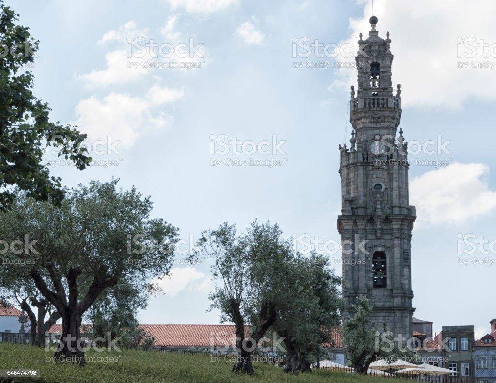 Clerigos Tower in Oporto stock photo