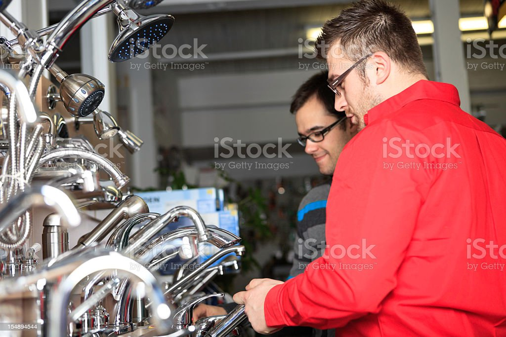 Clerk Help Customer Hardware Store royalty-free stock photo