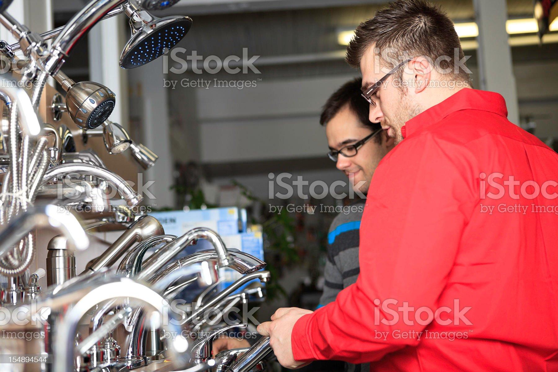 Clerk Help Customer Hardware Store royalty-free stock photo