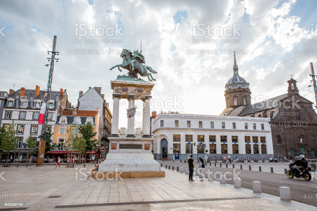 Clermont-Ferrand city in France stock photo