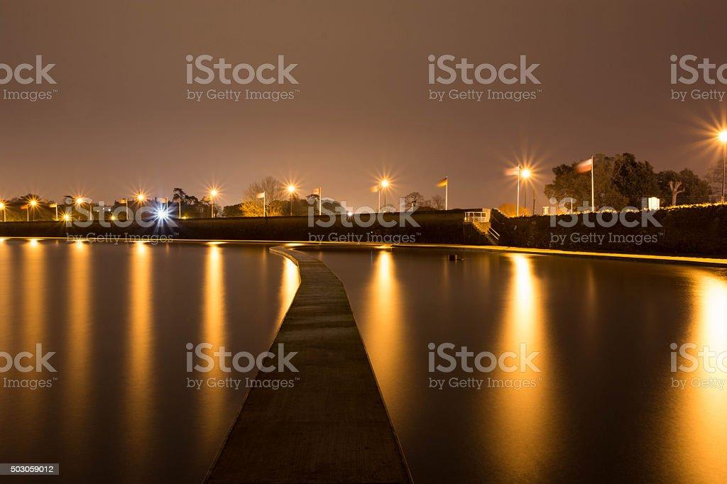 clevedon marine lake stock photo