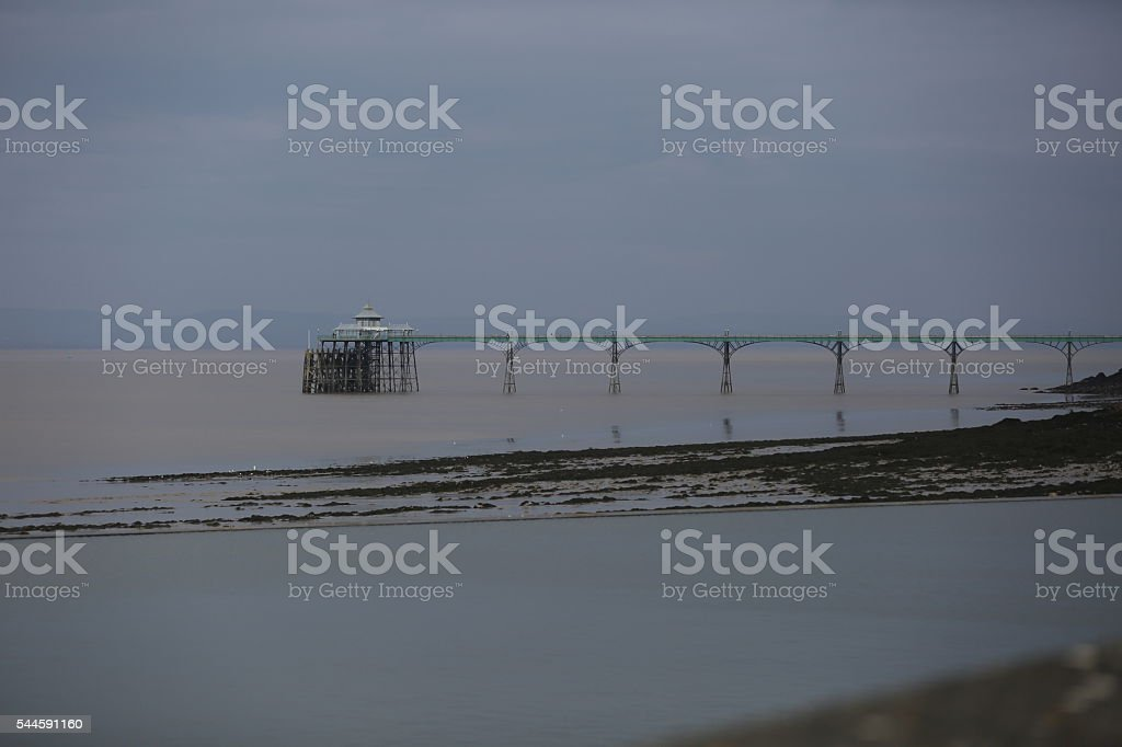 Clevedon Pier (Bristol-UK). stock photo