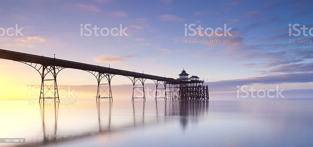 Clevedon Pier, Somerset, U.K stock photo