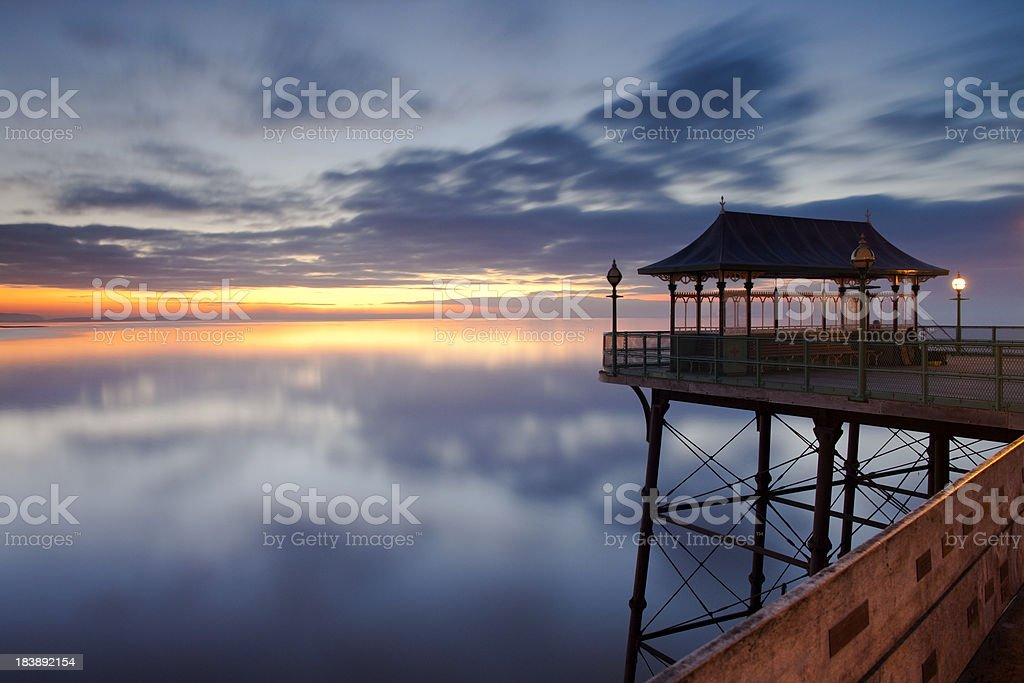 Clevedon Pier Twilight stock photo