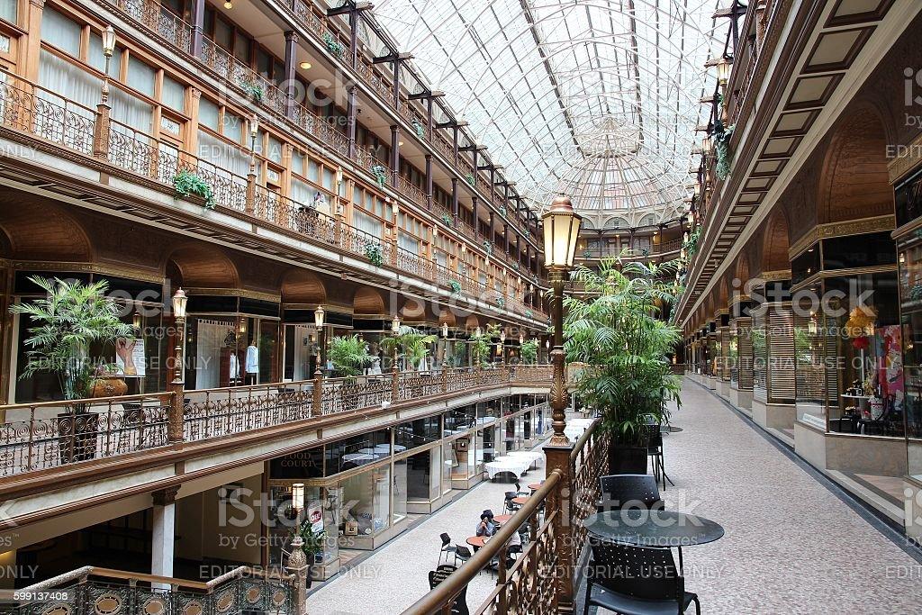 Cleveland Arcade stock photo