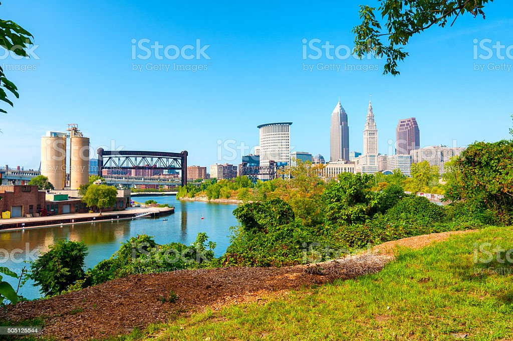 Cleveland cityscape stock photo