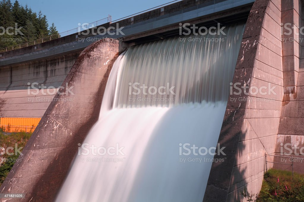 Cleveland Dam Spillway, North Vancouver, BC stock photo