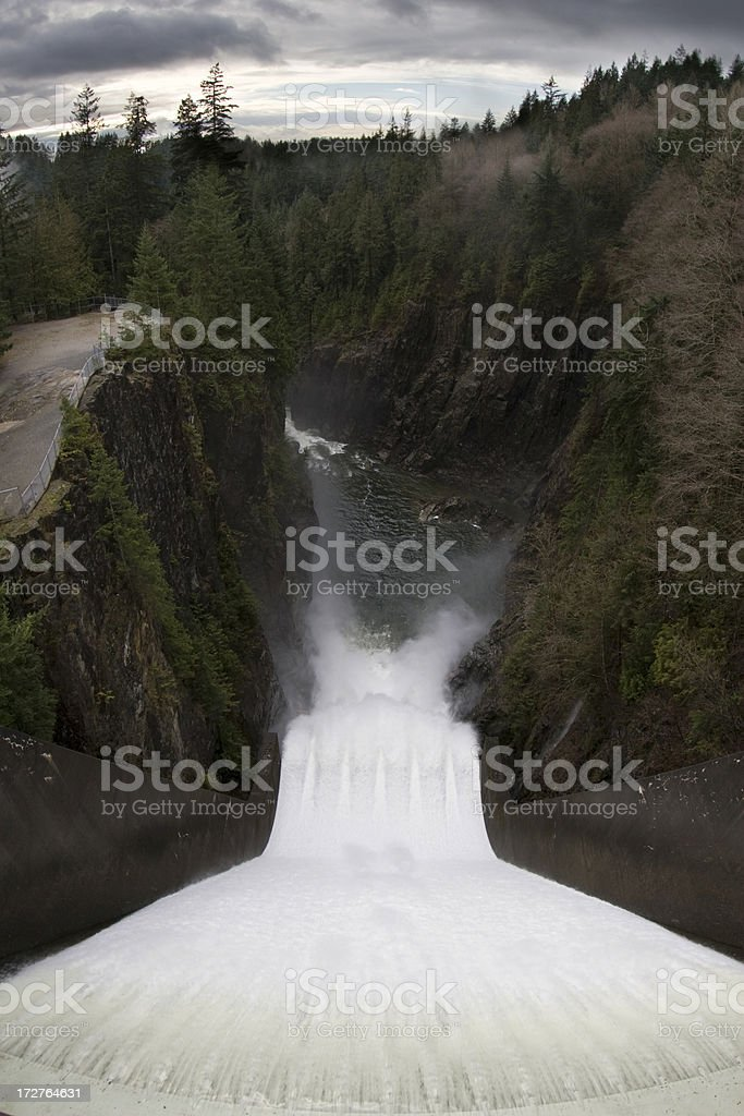 Cleveland Dam spillway stock photo