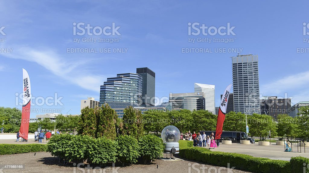 Cleveland downtown stock photo