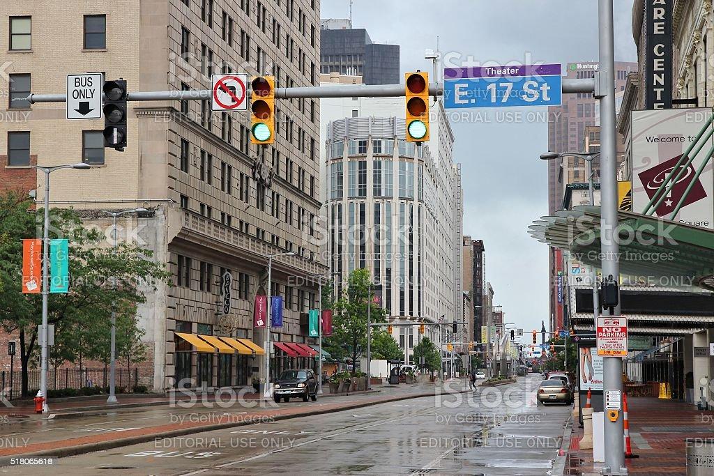 Cleveland Euclid Avenue stock photo