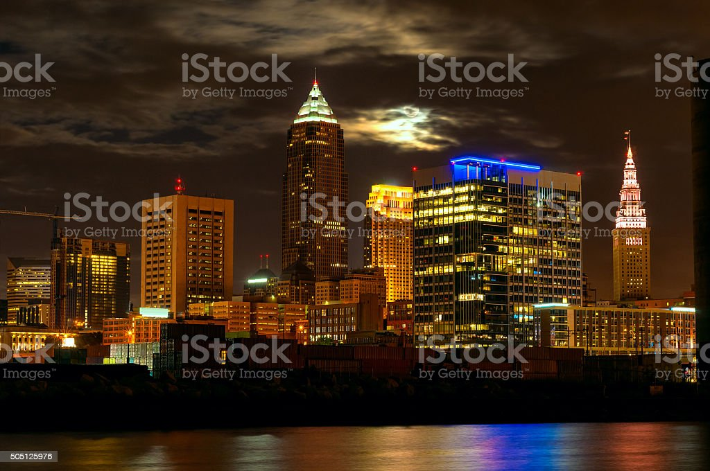 Cleveland moonscape stock photo