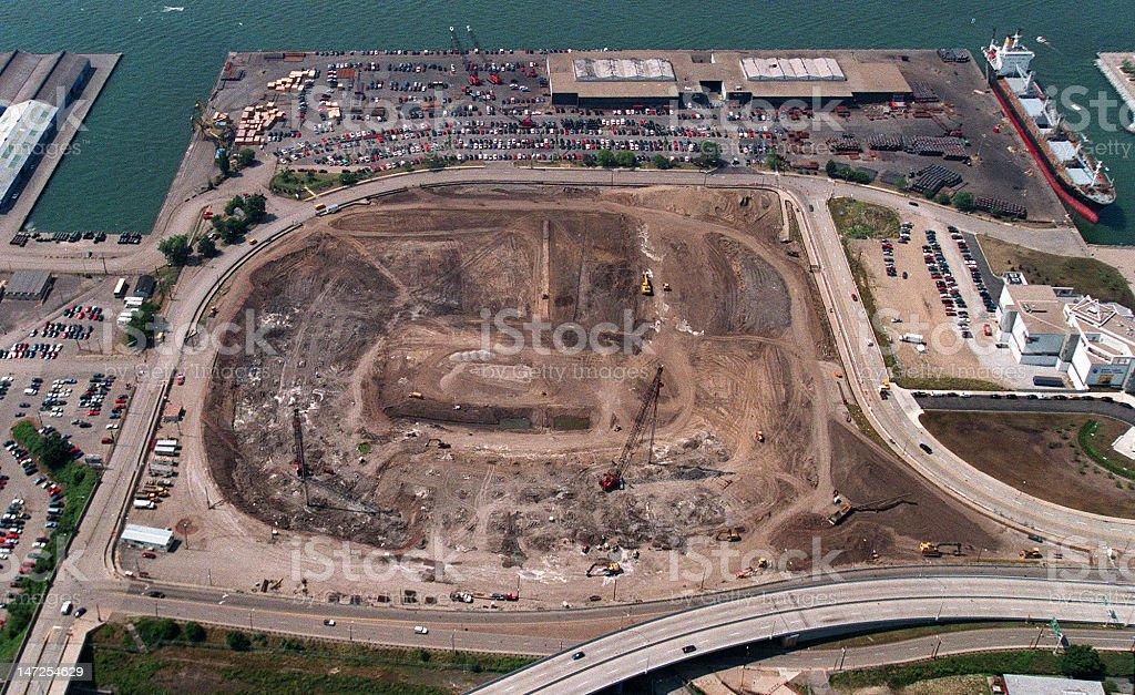 Cleveland Muni Stadium Demolition of Browns Empty Site royalty-free stock photo