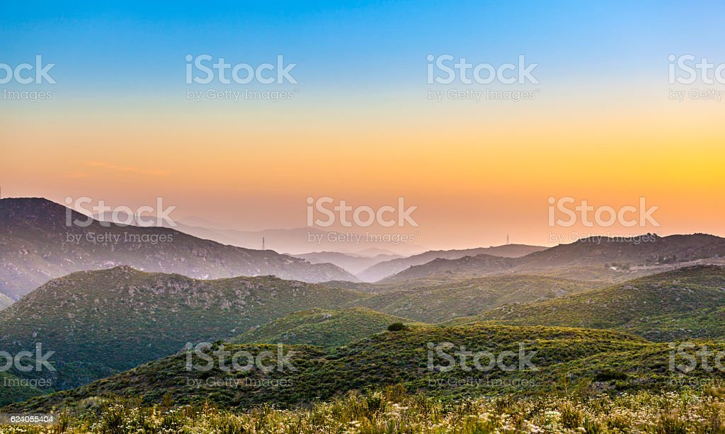 Cleveland national forest in sunset, California stock photo