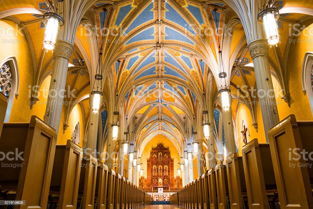 Cleveland Ohio Cathedral of Saint John the Evangelist stock photo