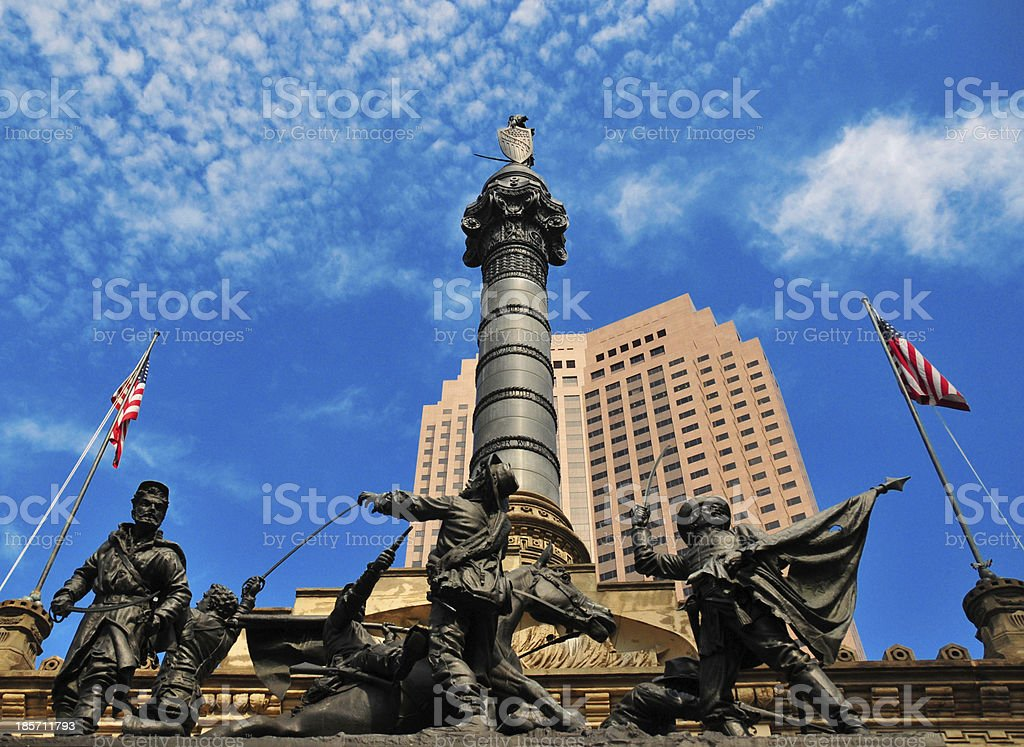 Cleveland, Ohio: Civil War monument (dedicated in 1894) stock photo