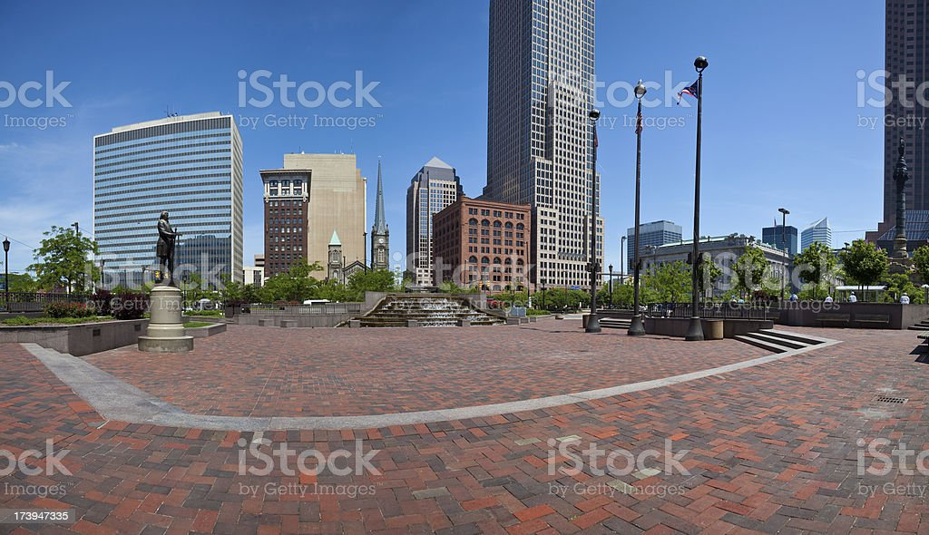 Cleveland Public Square royalty-free stock photo