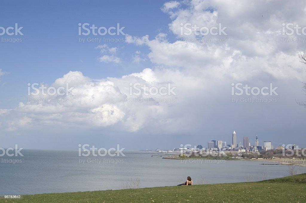 Cleveland Spring stock photo