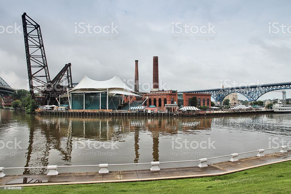 Cleveland Warehouse District stock photo