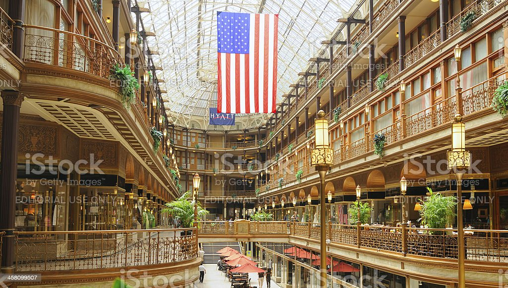Cleveland's Old Arcade royalty-free stock photo