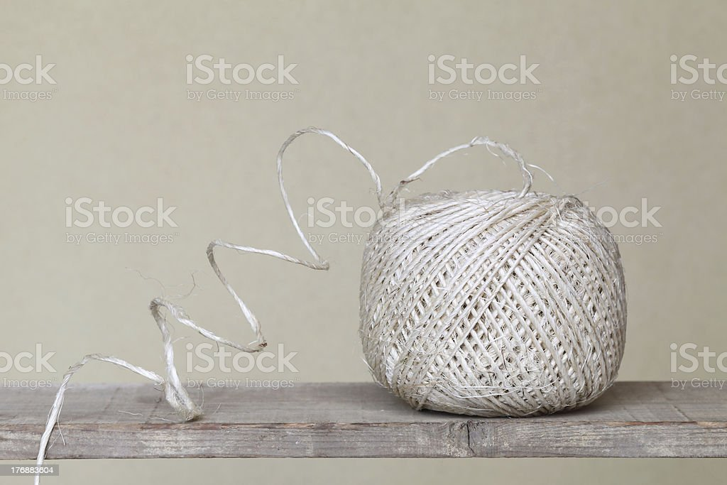 Clew of linen twine royalty-free stock photo